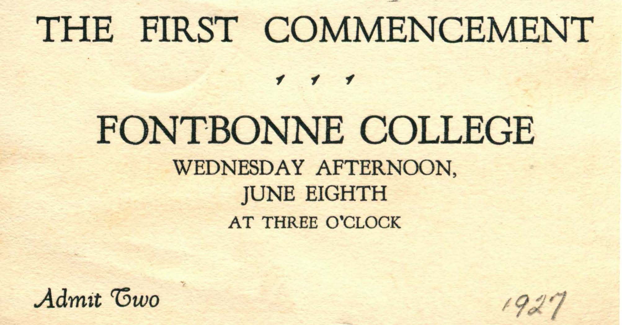 Commencement Materials, 1927-present