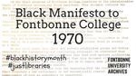 Black Manifesto to Fontbonne College, 1970 (selected excerpts) by Fontbonne College