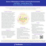 Sense of Belonging in Online Learning Environments
