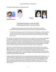 Teaching Strategies to Seal the Deal: Teaching Information Literacy Online