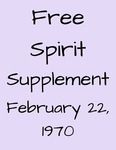 Free Spirit: Supplement, February 22, 1970 by Fontbonne College
