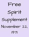 Free Spirit: Supplement, November 22, 1971