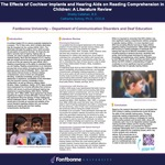 The Effects of Cochlear Implants and Hearing Aids on Reading Comprehension in Children: A Literature Review by Shelby Callahan