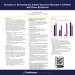 Accuracy in Screening for Autism Spectrum Disorder in Children with Down Syndrome by Molly Tessin
