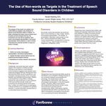 The Use of Non-Words as Targets in the Treatment of Speech Sound Disorders in Children