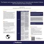 The Speech and Language Development of Internationally Adopted Children Who are Deaf and Hard of Hearing