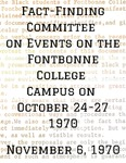Fact-Finding Committee on Events on the Fontbonne College Campus on October 24 to 27, 1970 by Fontbonne College