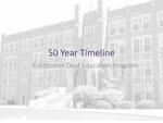 Fontbonne Deaf Education Program 50 Year Timeline